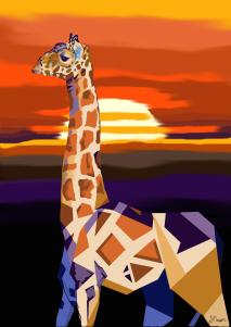 giraffe art_signed